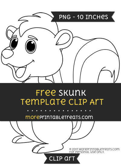 Free Skunk Template - Clipart