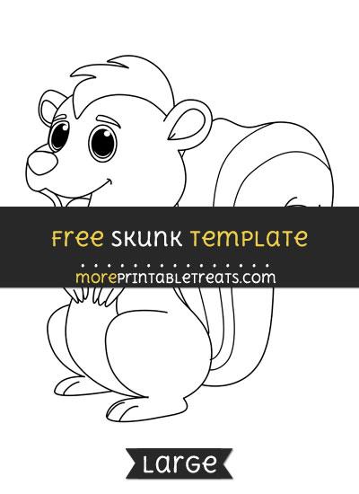 Free Skunk Template - Large