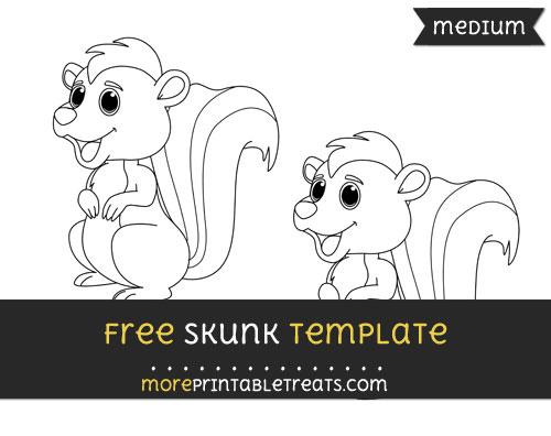Free Skunk Template - Medium