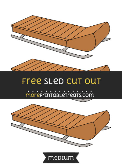 Free Sled Cut Out - Medium Size Printable
