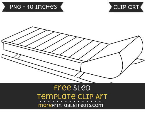 Free Sled Template - Clipart