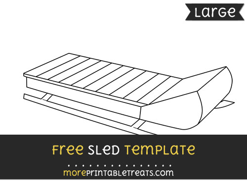 Free Sled Template - Large