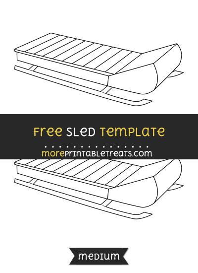 Free Sled Template - Medium