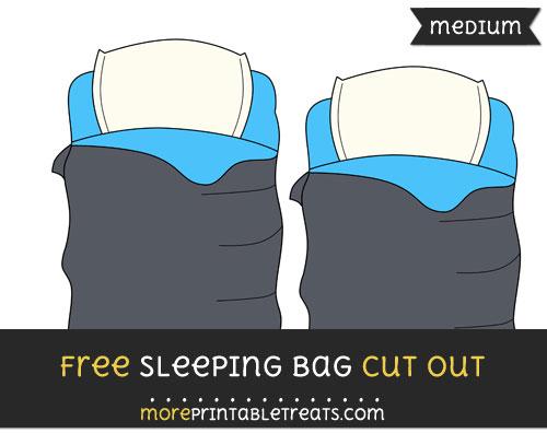 Free Sleeping Bag Cut Out - Medium Size Printable