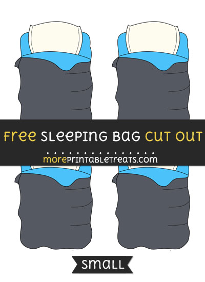 Free Sleeping Bag Cut Out - Small Size Printable