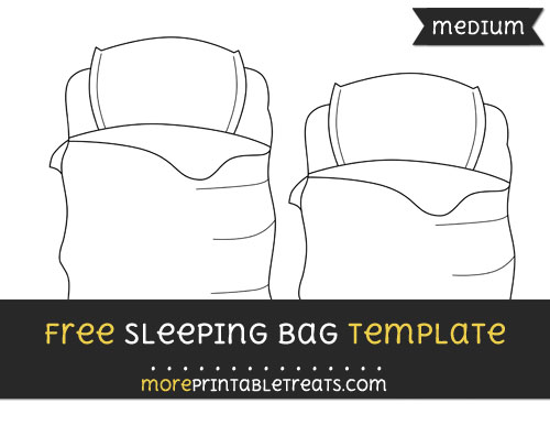 Free Sleeping Bag Template - Medium