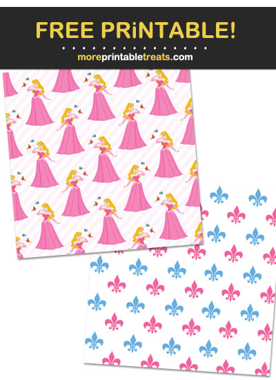 Free Printable Sleeping Beauty Theme Paper