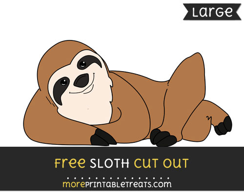 Free Sloth Cut Out - Large size printable