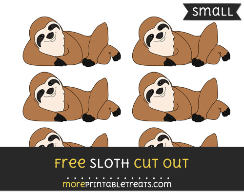 Free Sloth Cut Out - Small Size Printable