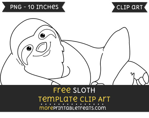Free Sloth Template - Clipart