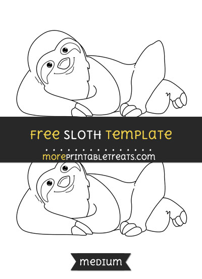 Free Sloth Template - Medium