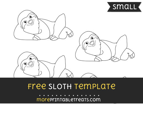 Free Sloth Template - Small