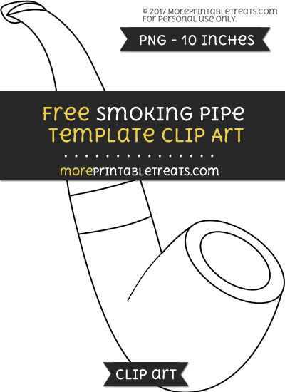 Free Smoking Pipe Template - Clipart