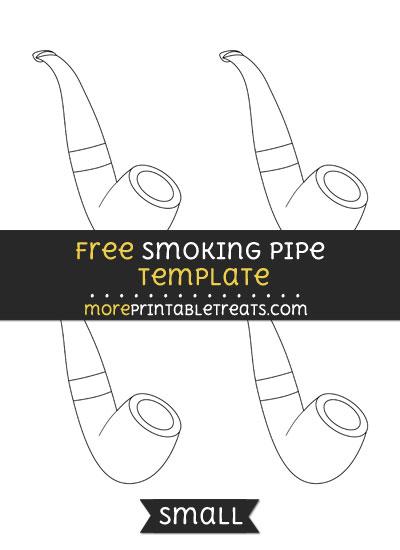 Free Smoking Pipe Template - Small