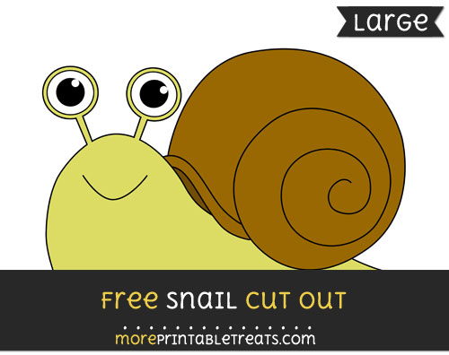 Free Snail Cut Out - Large size printable