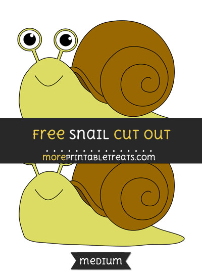 Free Snail Cut Out - Medium Size Printable