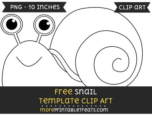 Free Snail Template - Clipart