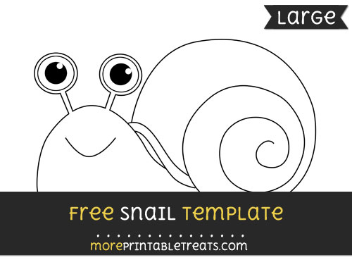 Free Snail Template - Large