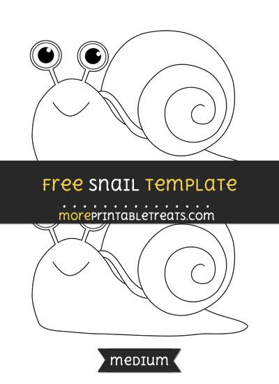 Free Snail Template - Medium