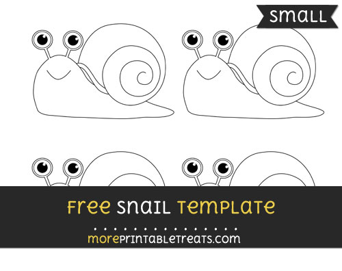 Free Snail Template - Small