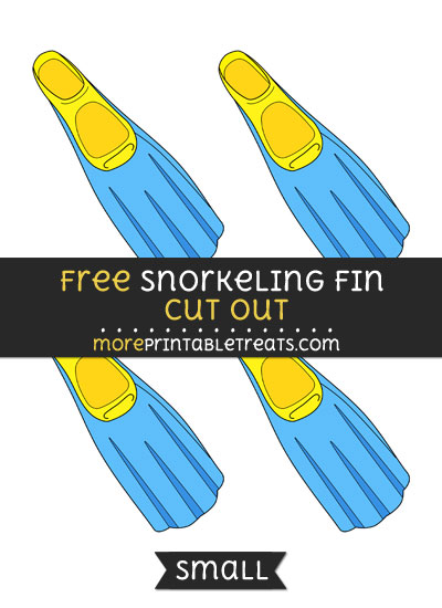 Free Snorkeling Fin Cut Out - Small Size Printable