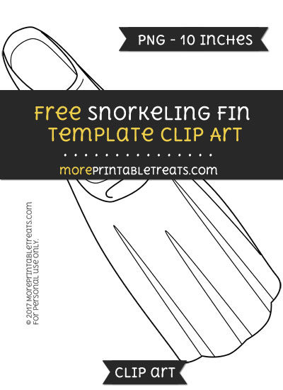 Free Snorkeling Fin Template - Clipart