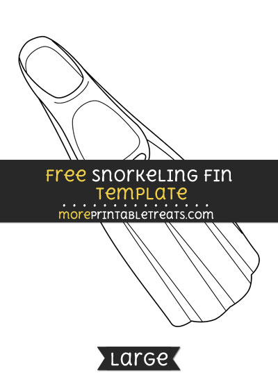 Free Snorkeling Fin Template - Large