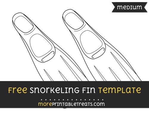 Free Snorkeling Fin Template - Medium