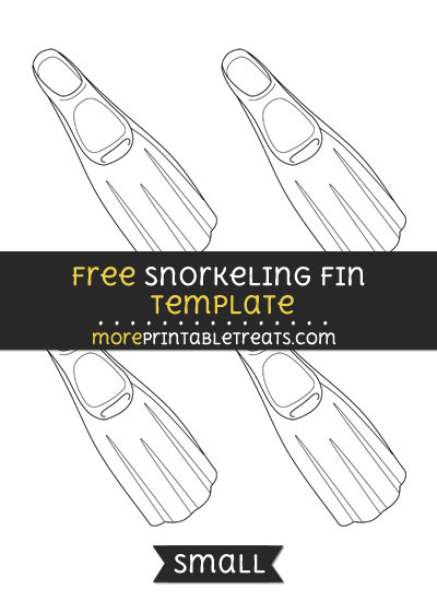 Free Snorkeling Fin Template - Small