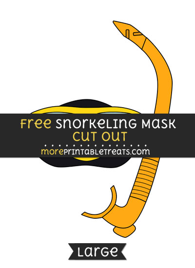 Free Snorkeling Mask Cut Out - Large size printable