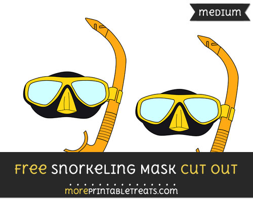 Free Snorkeling Mask Cut Out - Medium Size Printable