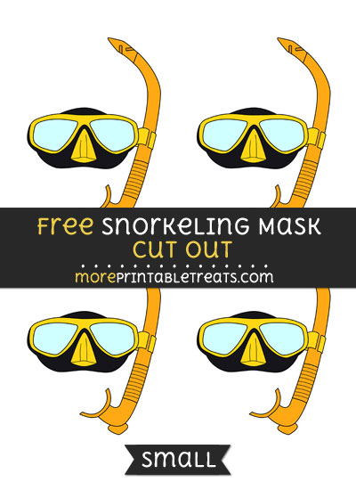 Free Snorkeling Mask Cut Out - Small Size Printable