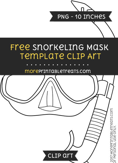 Free Snorkeling Mask Template - Clipart