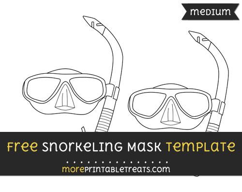 Free Snorkeling Mask Template - Medium