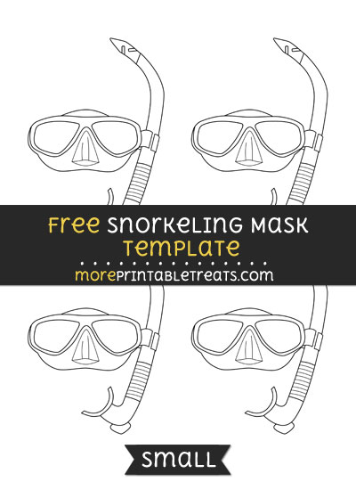 Free Snorkeling Mask Template - Small