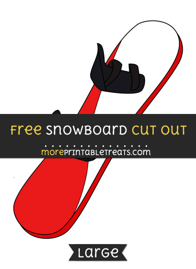 Free Snowboard Cut Out - Large size printable