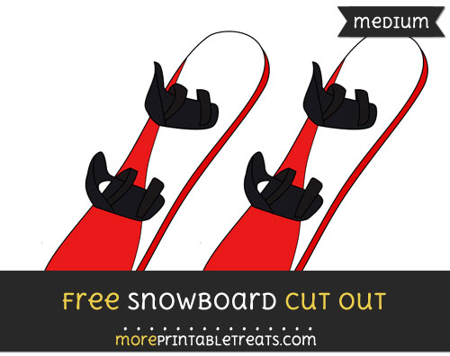 Free Snowboard Cut Out - Medium Size Printable