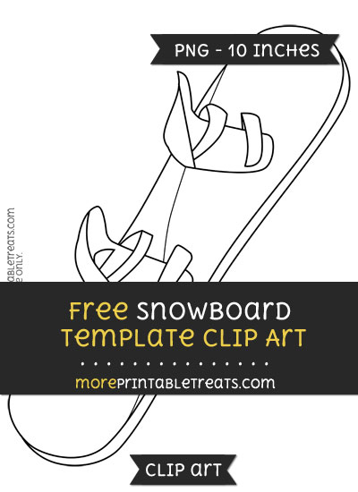 Free Snowboard Template - Clipart