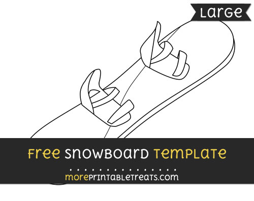 Free Snowboard Template - Large
