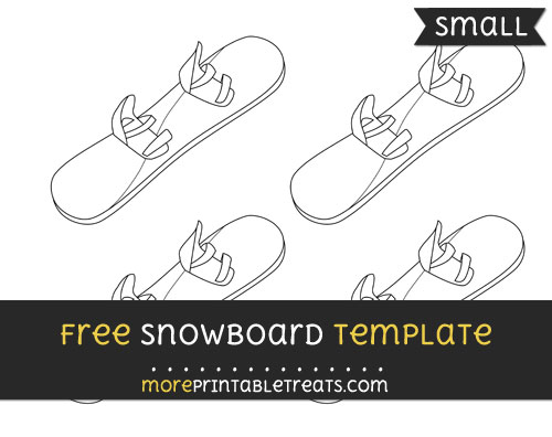 Free Snowboard Template - Small