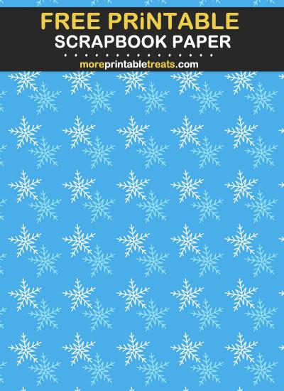 Free Printable Snowflake Scrapbook Paper