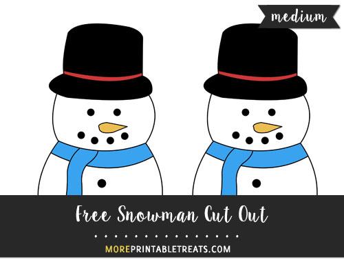 Free Snowman Cut Out - Medium