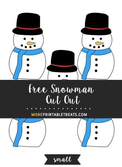 Free Snowman Cut Out - Small