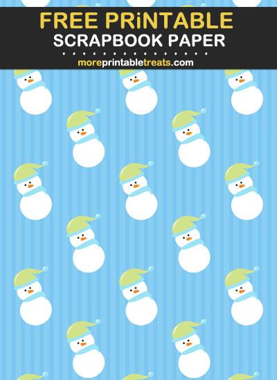 Free Printable Snowman Scrapbook Paper