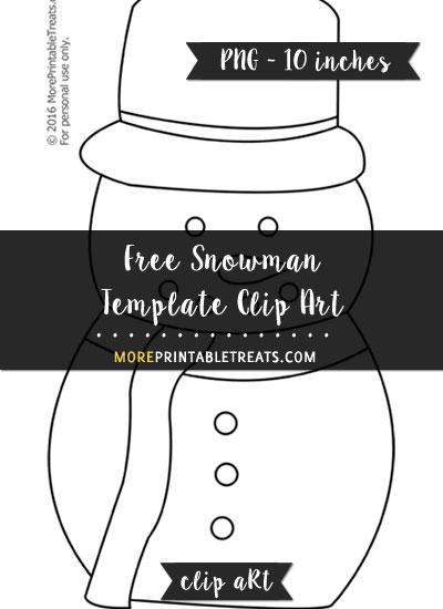 Free Snowman Template - Clipart