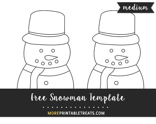 Free Snowman Template - Medium Size