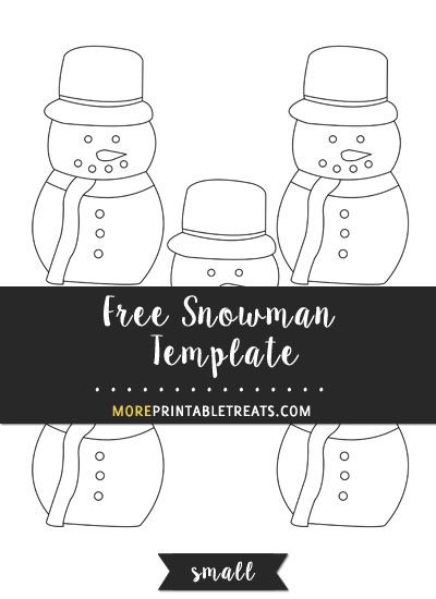 Free Snowman Template - Small Size