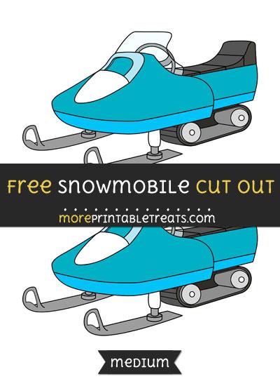 Free Snowmobile Cut Out - Medium Size Printable