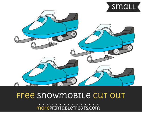 Free Snowmobile Cut Out - Small Size Printable