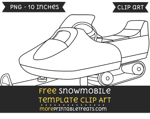 Free Snowmobile Template - Clipart